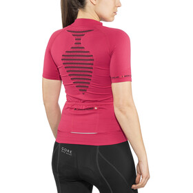 X-Bionic Biking Ae Lady Race Ow Shirt Sh_Sl. Dam lipstick red/ black
